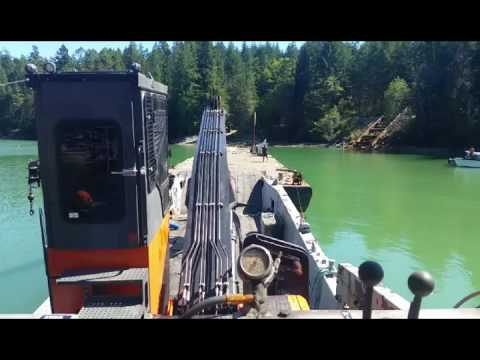 Barge work in Cockburn Bay with the Inlet Raider