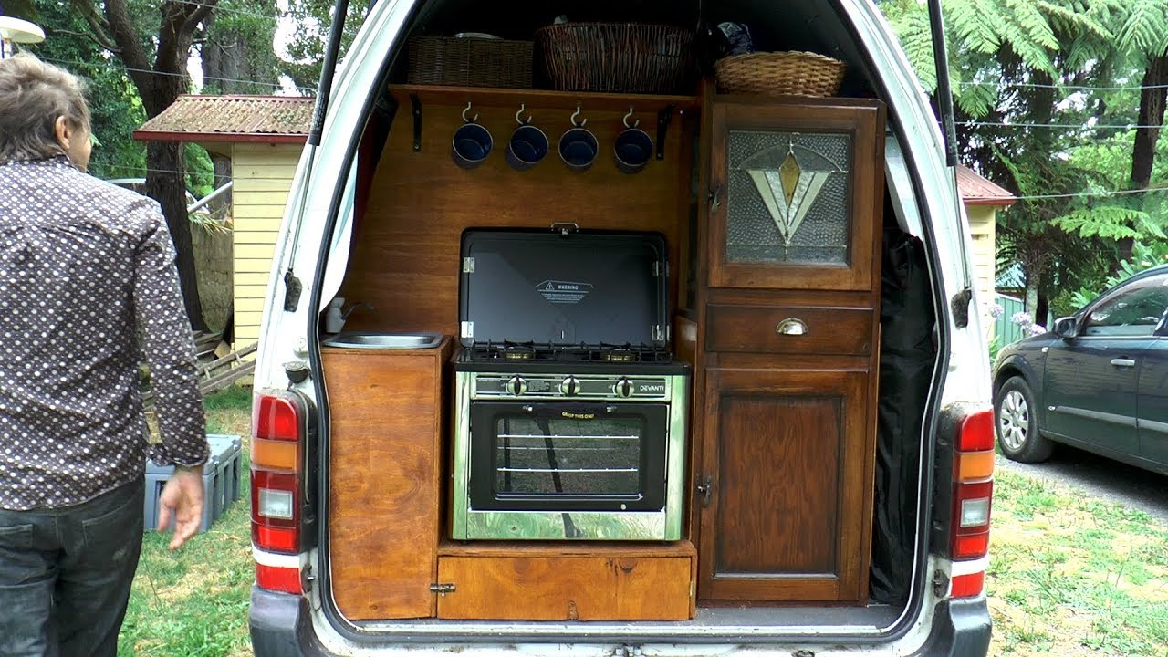 Van Converted To Camper Rv Tiny Home Toyota Hiace