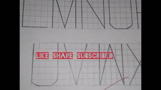 Engineering drawing lettering