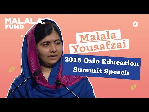 Malala Yousafzai Tells World Leaders at Oslo: Books, Not Bullets
