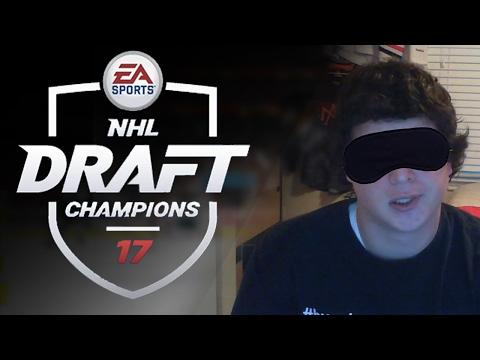 BLINDFOLD DRAFT CHAMPIONS CHALLENGE!   NHL 17 Draft Champions