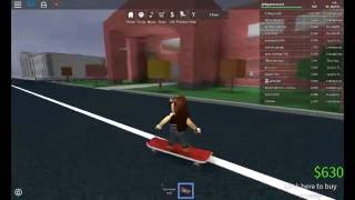 Learning how to ride a skateboard- Roblox