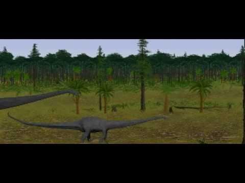 Dinosaur Safari (Late Jurassic) Clip #8: Diplodocus