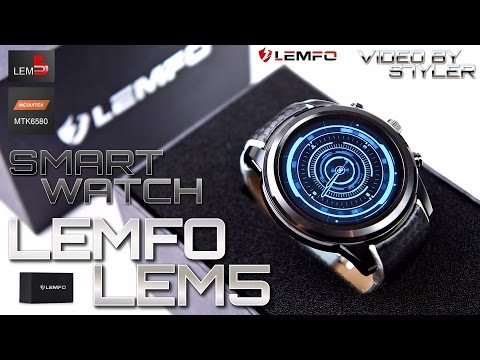 """Extremely Cool China Smartwatch? LEMFO LEM5 (In-Depth Review) 1.39"""" OLED // Video by s7yler"""