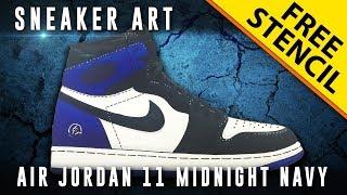 Sneaker Art: Air Jordan 1 Fragment w/ Downloadable Stencil