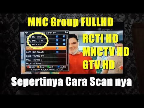 Cara Scan MNC Group HD di Kvision