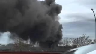 Magliana, incendio all'ex Vela de Mar