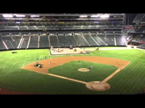 Oakland Coliseum In Changeover Raiders To A's #AZvOAK