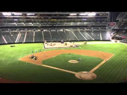 Oakland Coliseum In Changeover Raiders To A's #AZvOAK - Zennie62