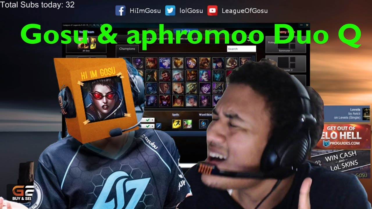 Gosu & Aphromoo - Duo Funny Moments and Highlights - YouTube
