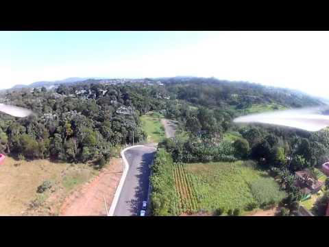 FPV - Voando de cima da laje - Cidade de nova POA