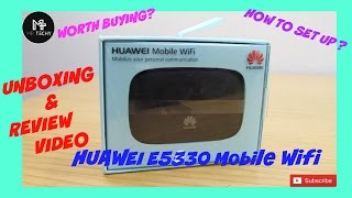 [Hindi  Huawei E5330 Wifi Mobile Router   Unboxing   Review   How to Set Up?
