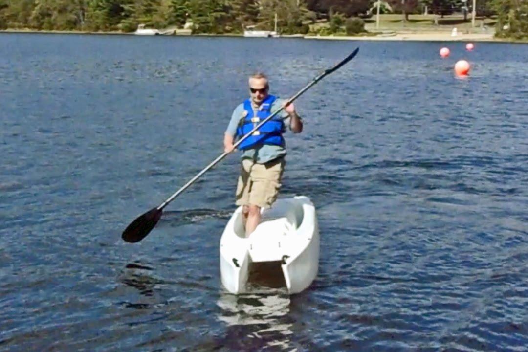 Wavewalk 700 catamaran super fishing kayak portable for Most stable fishing kayak