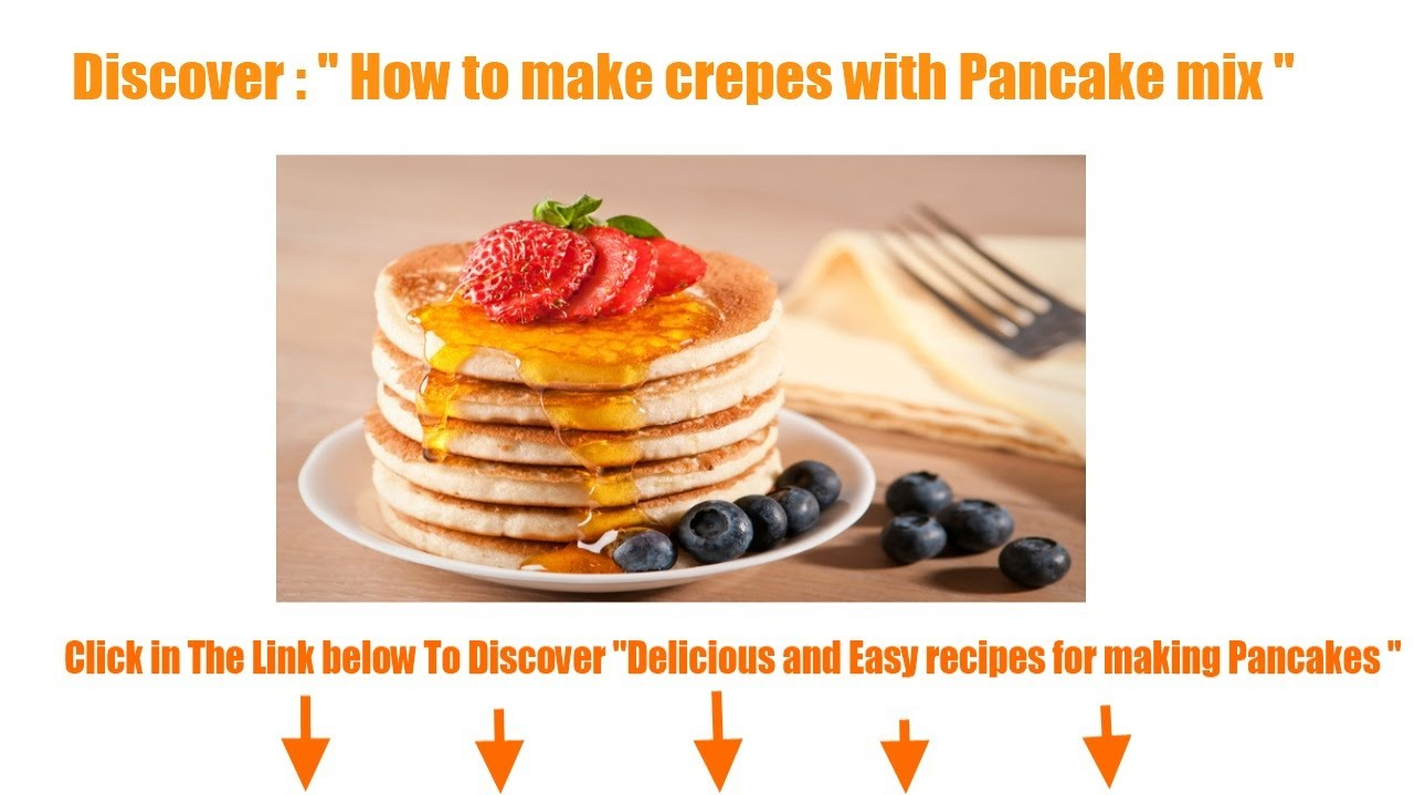 How to make crepes with pancake mix youtube how to make crepes with pancake mix pancake recipes ccuart Gallery