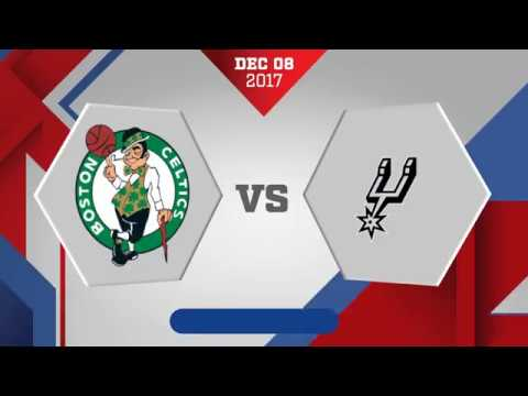 Boston Celtics vs. San Antonio Spurs - December 8, 2017