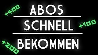 MEHR ABONNENTEN/KLICKS SCHNELL BEKOMMEN! 2019