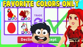 I Traded RANDOM Players Pets In Their FAVORITE COLOR In Adopt Me!