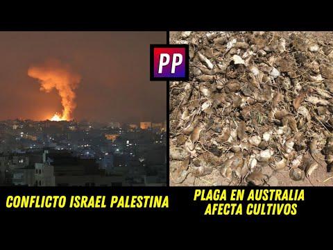 CONFLICTO ISRAEL PALESTINA SE AGRAVA - PLAGA DESTRUYE CULTIVOS EN AUSTRALIA