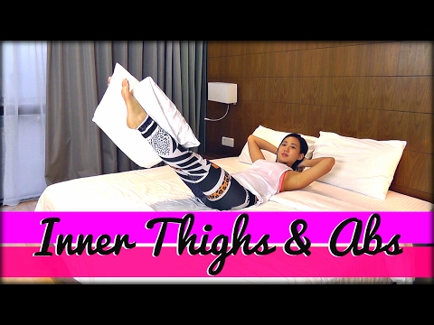 5-Minute Inner Thighs & Abs in Bed | Joanna Soh