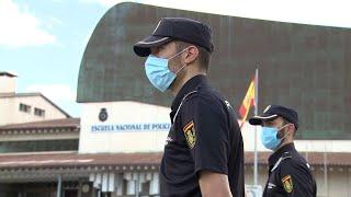 Los alumnos de la Escuela Nacional de Policía regresan por turnos