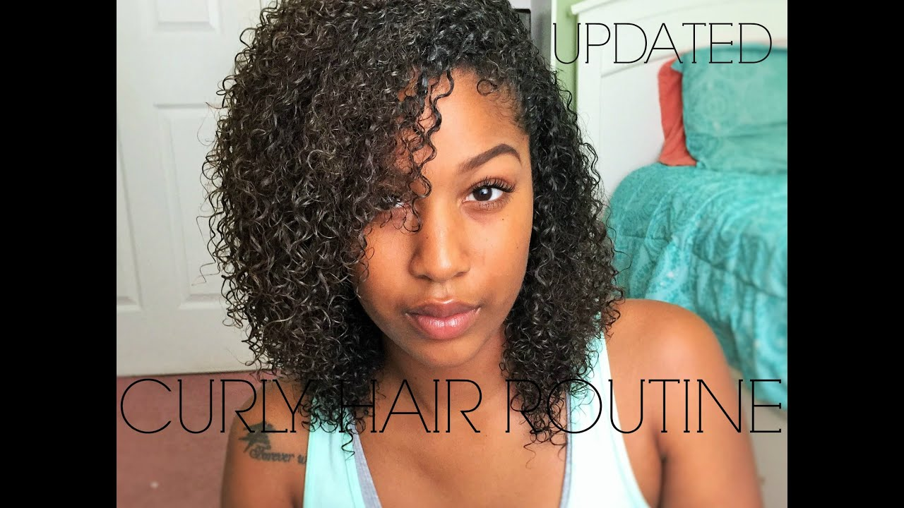 updated natural curly hair routine