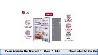 LG 260 L 3 Star Frost Free Double Door Refrigerator (GL-I292RPZL,  Smart Inverter Compressor)