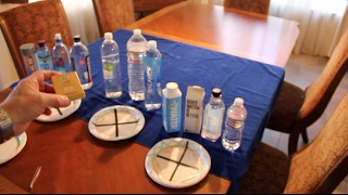 """11 different bottled water brands tested for 'pH'/ 'Alkaline' 