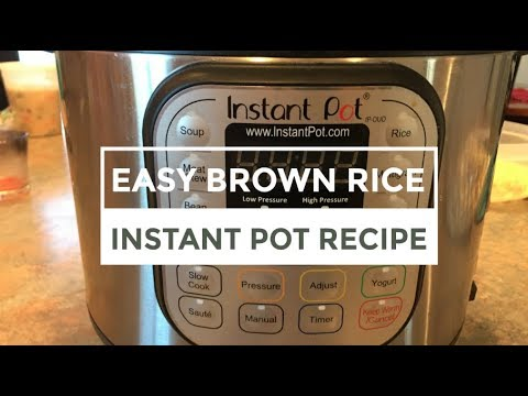 Easy Brown Rice in the Instant Pot!! | Vlogmas Day 21