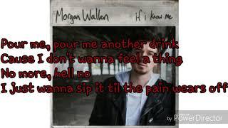 Morgan Wallen whiskey glasses - lyrics Video