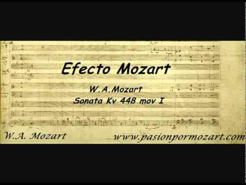 Efecto Mozart. Sonata Kv448 mov 1º. W.A.  Mozart