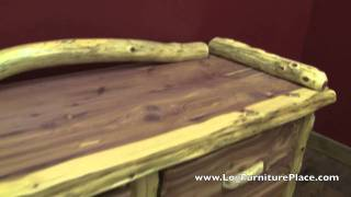 Red Cedar 4 Drawer Log Sitting Chest From Logfurnitureplace.com