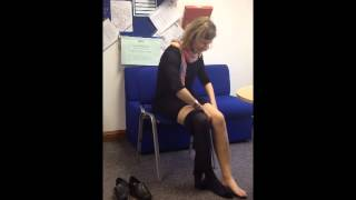 Stroke survivor's how-to: putting on a pair of tights Thumbnail