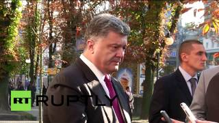 Ukraine: Poroshenko promises peace as protests sweep Kiev(, 2014-09-16T17:27:27.000Z)
