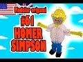 3D MODULAR ORIGAMI #61 HOMER SIMPSON