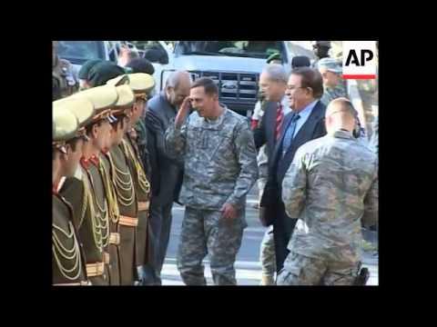 General Petraeus arrives, meets Defence minister