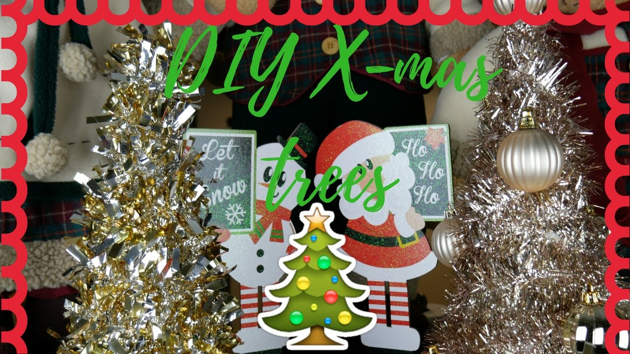 EASY DIY Tinsel Christmas Trees | DOLLAR TREE - 99 CENT ...