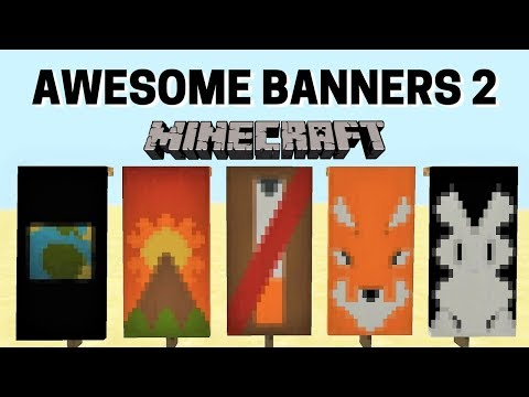 ✔ 5 AWESOME MINECRAFT BANNER DESIGNS WITH TUTORIAL! #2
