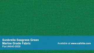 """Sunbrella 4645-0000 Seagrass Green 46"""" Marine Grade Fabric"""