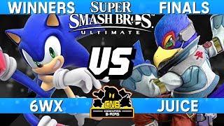 Smash Ultimate Tournament Winners Finals - 6WX (Sonic) vs Juice (Falco) - CNB 197 thumbnail
