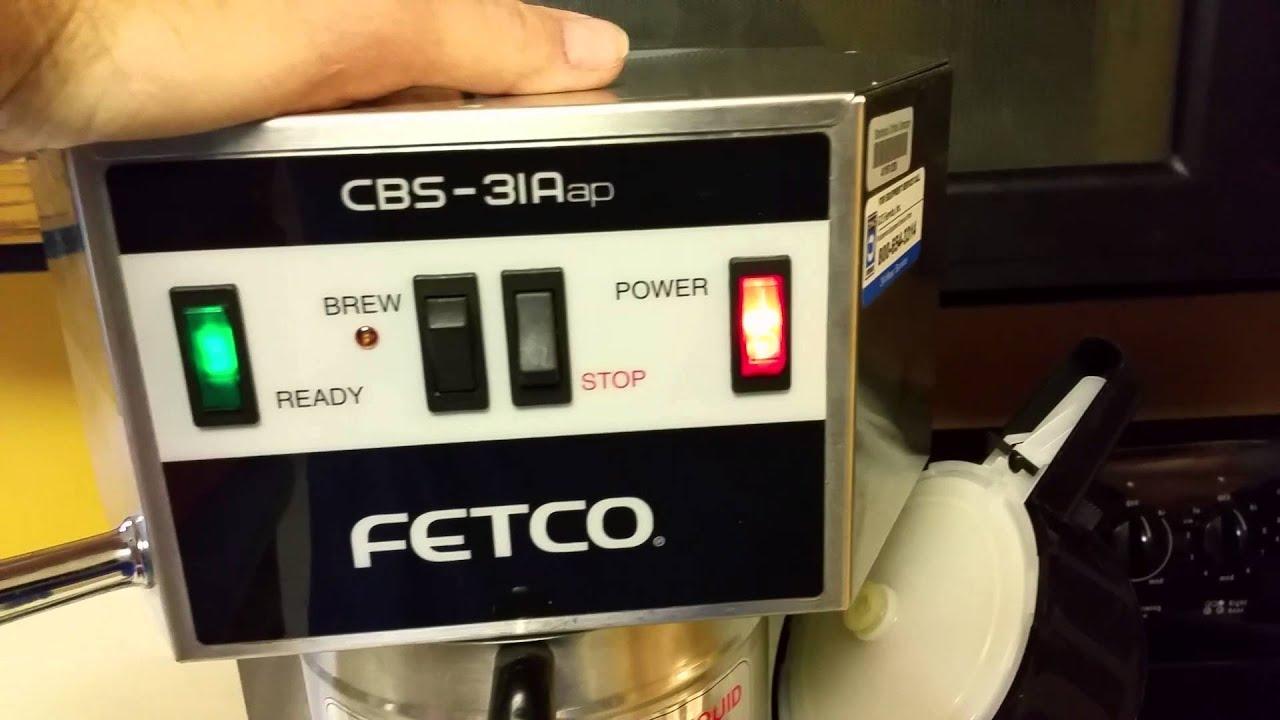 fetco cbs31aap coffee brewer - Fetco