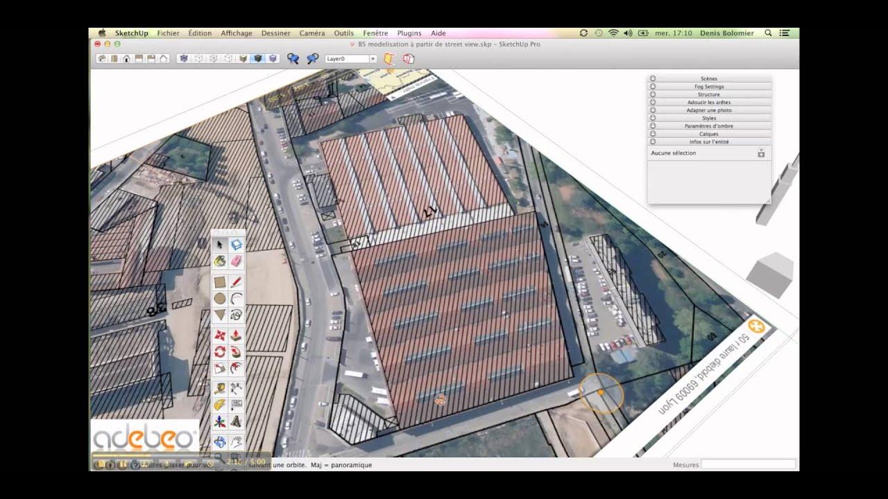 tutoriel sketchup b5 import du cadastre youtube - Plan Maison Sketchup Gratuit