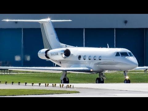 Private Gulfstream III (GLF3) landing & departing Montreal (YUL/CYUL)