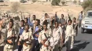 شاهد افراد من كتائب سلمان التي جرى تشكيلها في البيضاء استعدادا لتطهير المحافظة من المليشيا