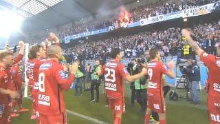 Malmö Peking IFK Norrköping tågresan matchen och firande 31 okt 2015 - SM-guld
