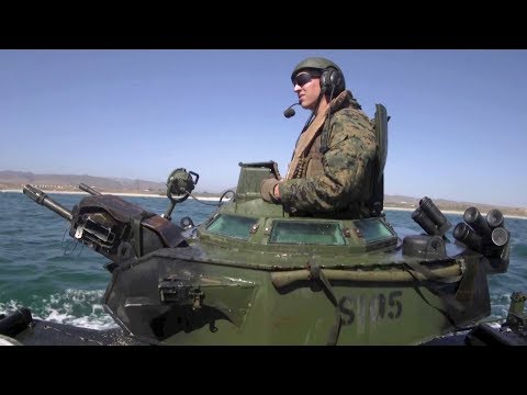 Assault Amphibious Vehicle – U.S. Marines Assault Amphibian School Training
