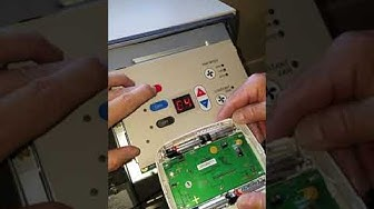 Amana PTAC air conditioner installation with remote thermostat programming