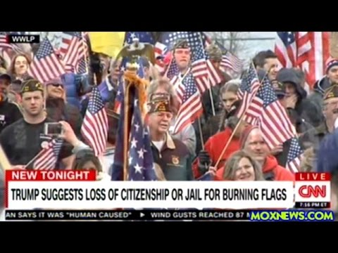 Donald Trump Wants To Revoke The Citizenship Of Americans Caught Burning The U.S. Flag!