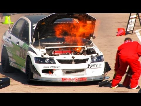 racing fire - evo burns at race track - boosted films - youtube  youtube
