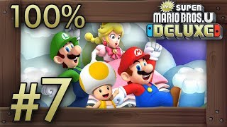 New Super Mario Bros. U Deluxe: 100% Walkthrough (4 Players) - World 7 - All Star Coins