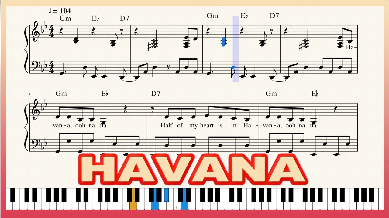 Letter Notes Piano Havana Form